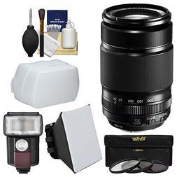 Fujifilm 55-200mm f/3.5-4.8 XF R LM OIS Zoom Lens + Flash +