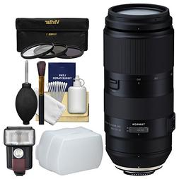Tamron 100-400mm f/4.5-6.3 Di VC USD Zoom Lens with 3 UV/CPL