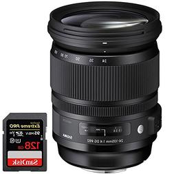 Sigma 24-105mm F/4 DG OS HSM ART Lens for Canon SLR  + Sandi