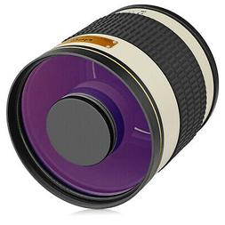 Opteka 500mm / 1000mm f/6.3 Telephoto Mirror Lens for Nikon