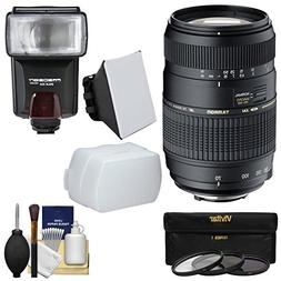 Tamron 70-300mm f/4-5.6 Di LD Macro 1:2 Zoom Lens with 3 Fil