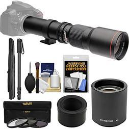 Vivitar 500mm f/8.0 Telephoto Lens with 2x Teleconverter  +