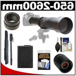 Vivitar 650-1300mm f/8-16 Telephoto Lens  with 2x Teleconver