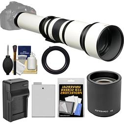 Vivitar 650-1300mm f/8-16 Telephoto Lens   with 2X Teleconve