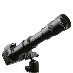 Lightdow 420-800mm f/8.3 Manual Zoom Telephoto Lens + T-Moun