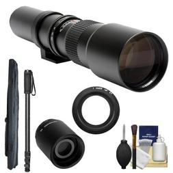 Rokinon 500mm f/8 Telephoto Lens  with 2x Teleconverter  + M