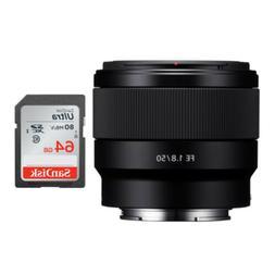 Sony FE 50mm F1.8 Lens & SanDisk 64GB SD Card