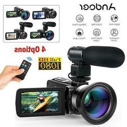 Andoer FHD 1080P 24MP 16X Digital Video Camera Camcorder Nig