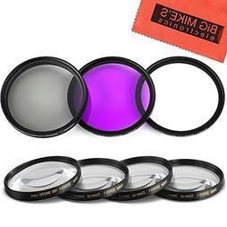 46mm 7PC Filter Set for Panasonic Lumix DMC-G7 DSLM Mirrorle