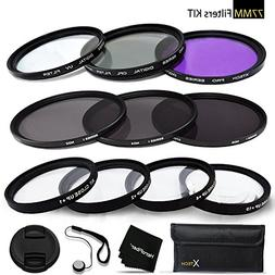 77mm Filters Set for 77mm Lenses and Cameras includes: 77mm