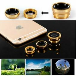 Fish Eye Angle Macro Clip-on Camera Lens Kit for iPhone 5S S