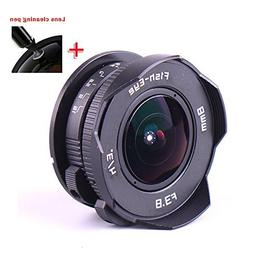 PIXCO 8mm F3.8 Fish-Eye C Mount Wide Angle Fisheye Lens Suit