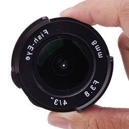 Pixco 8mm F3.8 Fish-eye CCTV Lens For C Mount Camera, 8mmFis