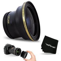 PRO 58MM Fisheye Lens for Canon EOS 80D, 70D, 60D, 7D Mark I