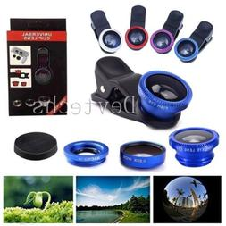 Fisheye Wide Angle Macro Lens Cell Phone Camera Lens Kits Cl