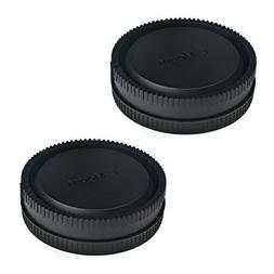 VKO Front Body Cap & Rear Lens Cap Replacement for Sony a65