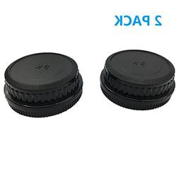 LXH Camera Front Body Cap & Rear Lens Cap Cover for Pentax