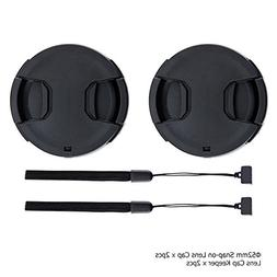 52mm Front Lens Cap Cover with Deluxe Cap Keeper for Nikon A