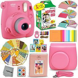 FujiFilm Instax Mini 9 Instant Camera FLAMINGO PINK + Fuji I