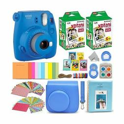 Fujifilm Instax Mini 9 Instant Camera Cobalt Blue + Fuji INS
