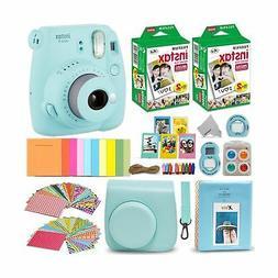Fujifilm Instax Mini 9 Instant Camera ICE Blue + Fuji INSTAX