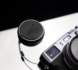 Gariz Genuine Leather XA-CFX100BK Camera Cap Fixs for Fuji F