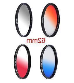 ZOMEI Graduated Lens Filter 4 Pieces  Camera Lens Filter Kit