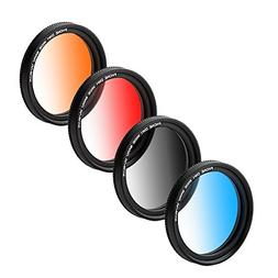 ZOMEI Graduated Lens Filter 37mm Professional 4 Pieces Camer