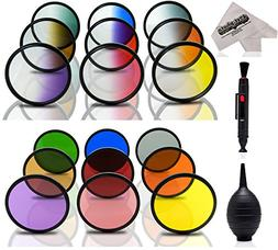 Opteka 19-Piece Graduated and Solid Color Filter Kit for Nik