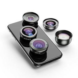 APEXEL HD 5 in 1 Camera Phone Lenses 4K Wide macro Telescope