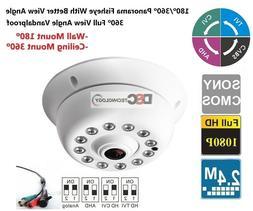 HD-TVI 180/360 degree Panoramic View 1080P 2.4MP Fisheye Len