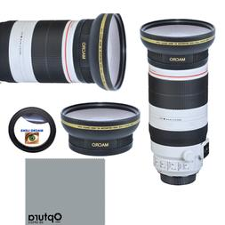 HD3 WIDE FISHEYE LENS + MACRO LENS FOR Canon EF 100-400mm f/