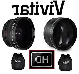 Hi-Def Telephoto & Wide Angle Lens Set For Panasonic Lumix D