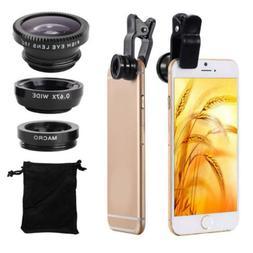 Hot 3 In 1 Mobile Phone Lenses wide Angle Macro Camera Lens