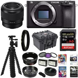 Sony ILCE-6500 a6500 4K Mirrorless Camera Body, 50mm E-Mount