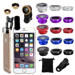 For i Phone 7 8 6s 6 Plus Samsung Clip Fish Eye Wide Angle M