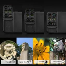 For iPhone XS 8 6 7Plus Case 4 in1 Camera Lens Kit Fisheye M