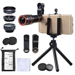 iPhone Camera Lens, 12x Telephoto Lens + 0.63x Wide Angle &