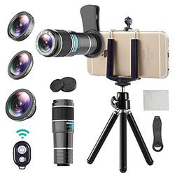 iPhone Telephoto Lens, 4 in 1 Cell Phone Camera Lens,12x Tel