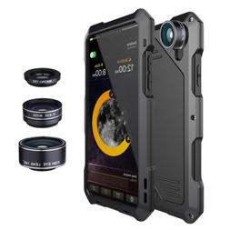 For iPhone X 8+ 7 XR Xs Max Waterproof+3 Camera Lens Shockpr