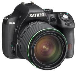 Pentax K-50 DSLR Camera Kit with L18-55 WR Lens, Black 10894