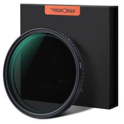 K&F Concept 77mm Fader ND Lens Filter Variable ND2 to ND32 N