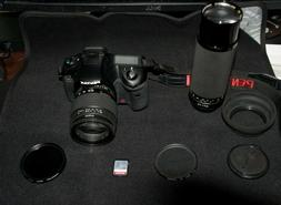 Pentax K10D 10.2MP Digital SLR Camera with 2 lenses and acce
