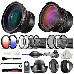 Neewer 52mm Professional Accessories Kit for Nikon DSLR Came