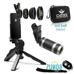 Camera Lens Kit by Zeso | Professional Telephoto, Macro & Wi