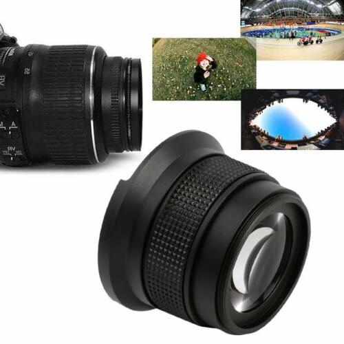 0.35X52MM Super HD Wide Angle Fisheye Lens With Macro for Ca