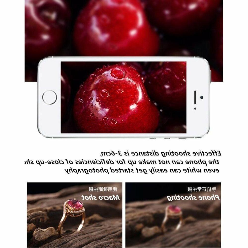 0.65X Wide Angle Camera Lens 185° Fisheye Macro Lens Black
