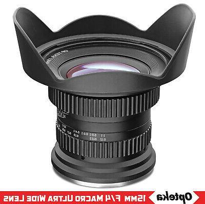 Opteka 15mm Macro Angle Lens for FX DSLR
