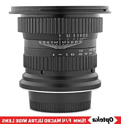 Opteka 15mm Macro Lens for F FX Mount DSLR