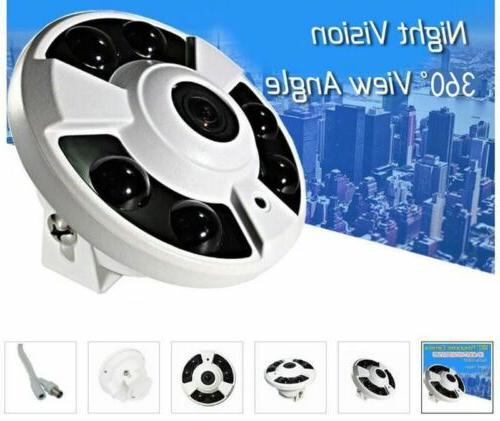 2.0MP 1080P HD Security Camera wired Wide Angle Fisheye 6PCS LEDs